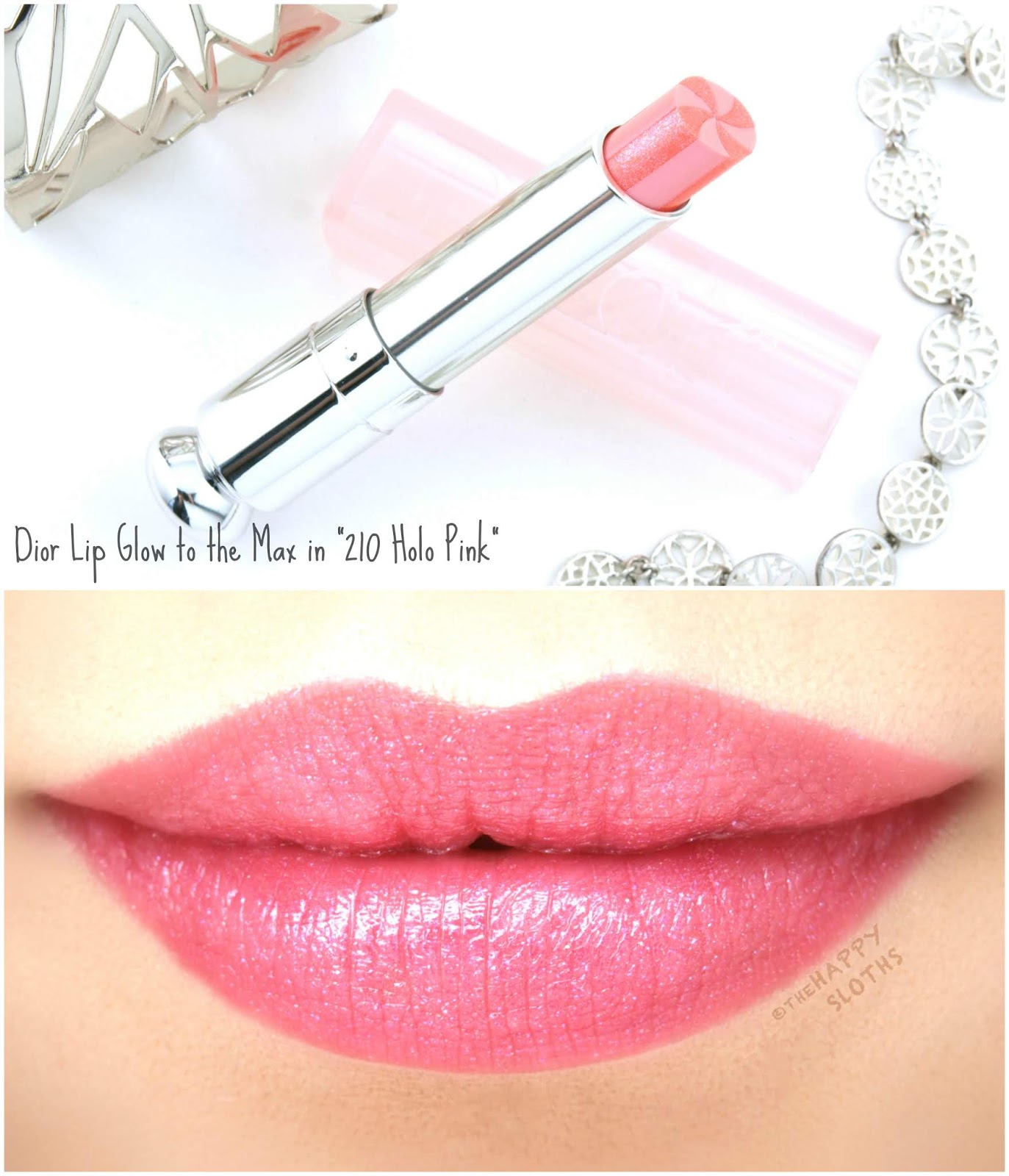 "Dior | Lip Glow to the Max in ""210 Holo Pink"": Review and Swatches"