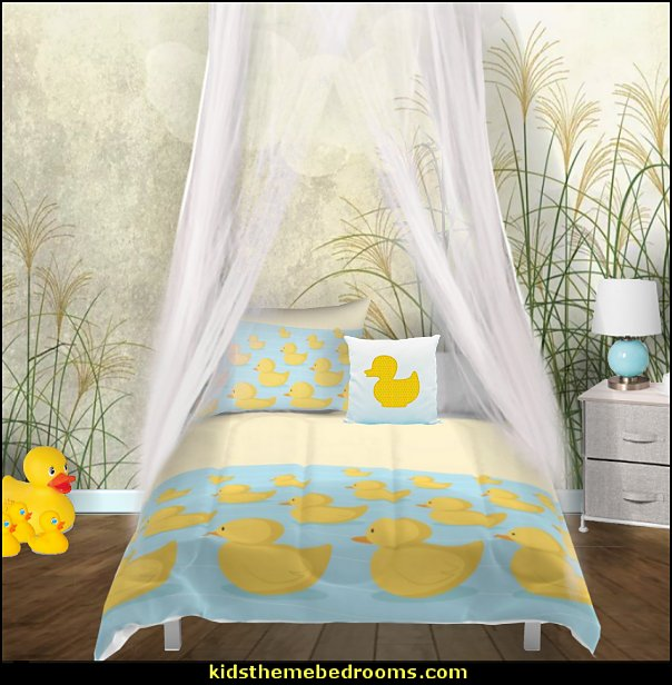 rubber duck theme bedrooms - rubber duck decor - yellow duck theme decorating ideas - rubber duck bedding - duck bedding - ducky bedding - rubber duck wall decal stickers - duck themed bed - duck headboard - ducky toddler bed - duck bedroom decor