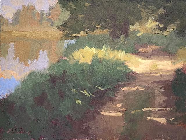 Grand Teton Schwabacher Landing landscape painting study Apr 29 2019