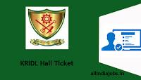 KRIDL Hall Ticket