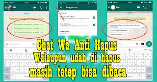 Cara Membaca Pesan Whatsapp Yang Sudah Di Hapus Pengirimnya