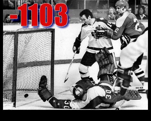 Cumulative +/- of Caps skaters in 1974-75 (Book Pg. 267)