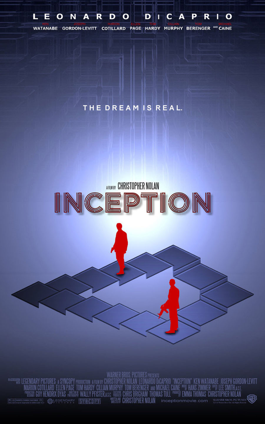 Inception 2010  Movie Poster and DVD Cover Art