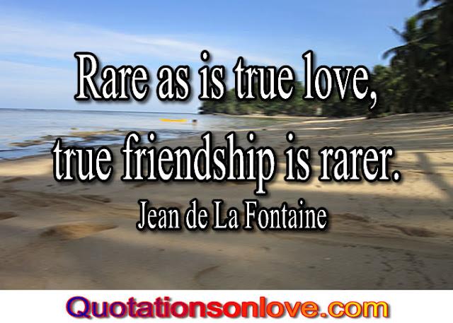 Rare as is true love