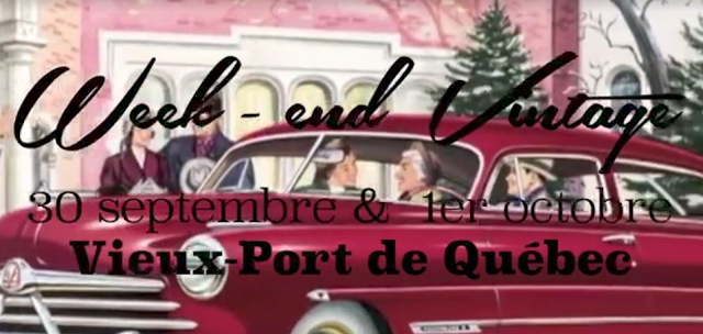 week-end Vintage vieux port québec