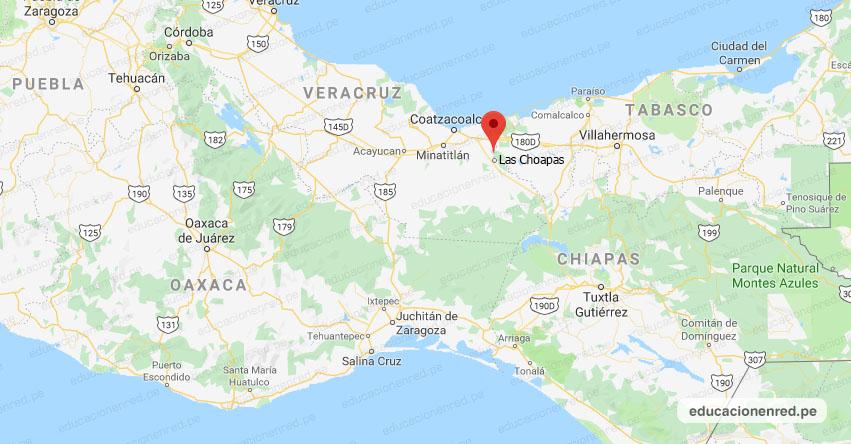 Temblor en México de Magnitud 4.3 (Hoy Jueves 12 Marzo 2020) Sismo - Epicentro - Las Choapas - Veracruz de Ignacio de la Llave - VER. - SSN - www.ssn.unam.mx