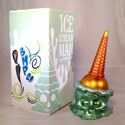 "Brutherford Industries x Brown Magic Paint Company ""Heavy Metal Mint"" Metallic Ice Scream Man"