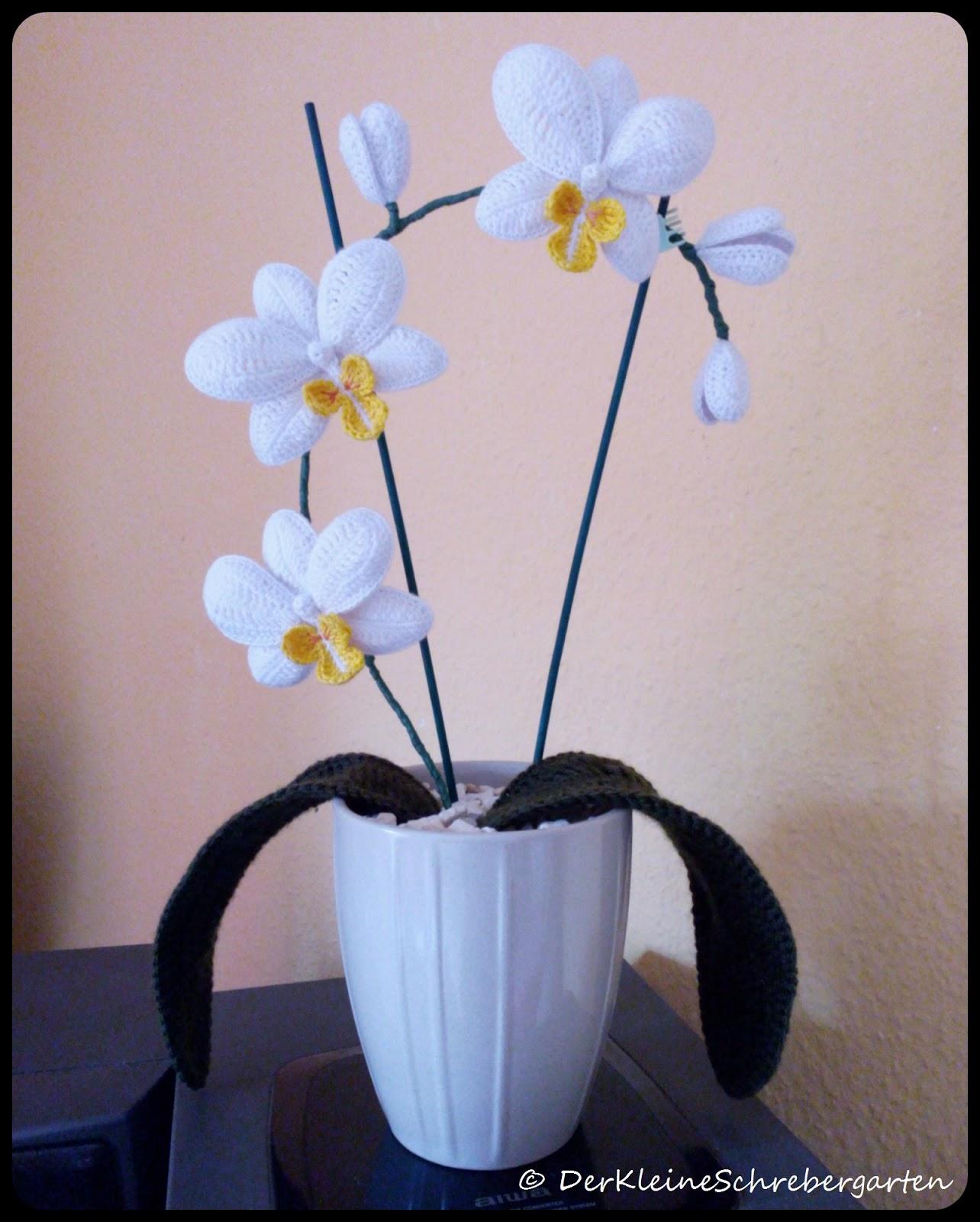Der Kleine Schrebergarten Gehäkelte Orchideen