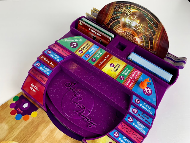 The Strictly Come Dancing The Board Game, the ballroom steps and storage for cards