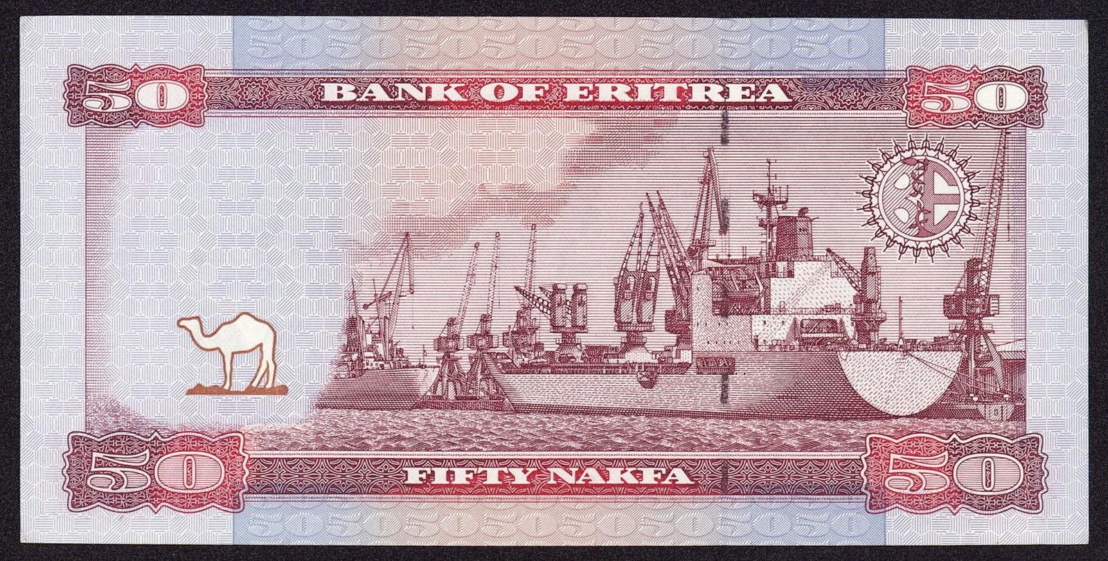 Currency of Eritrea 50 Nakfa Note