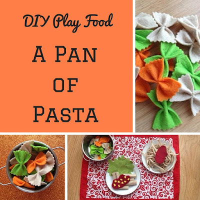 DIY play food: felt pasta