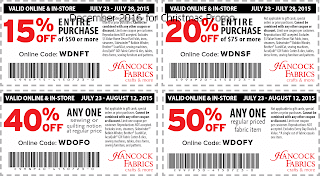 Hancock Fabrics coupons december 2016
