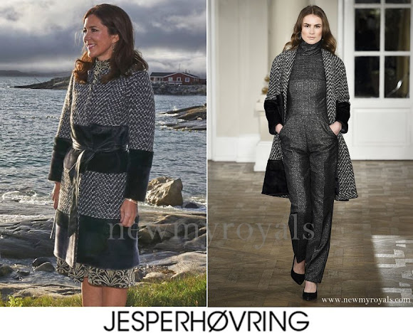 Princess Mary wears Jesper Hovring Coat - Fall-Winter 2016-2017