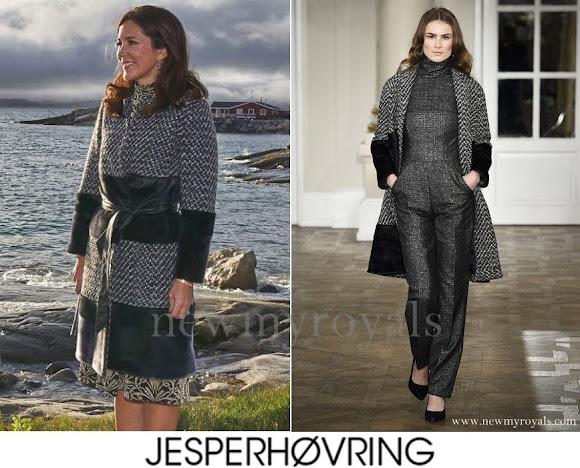 Princess Mary wears Jesper Hovring Coat - Fall-Winter 2016-2017