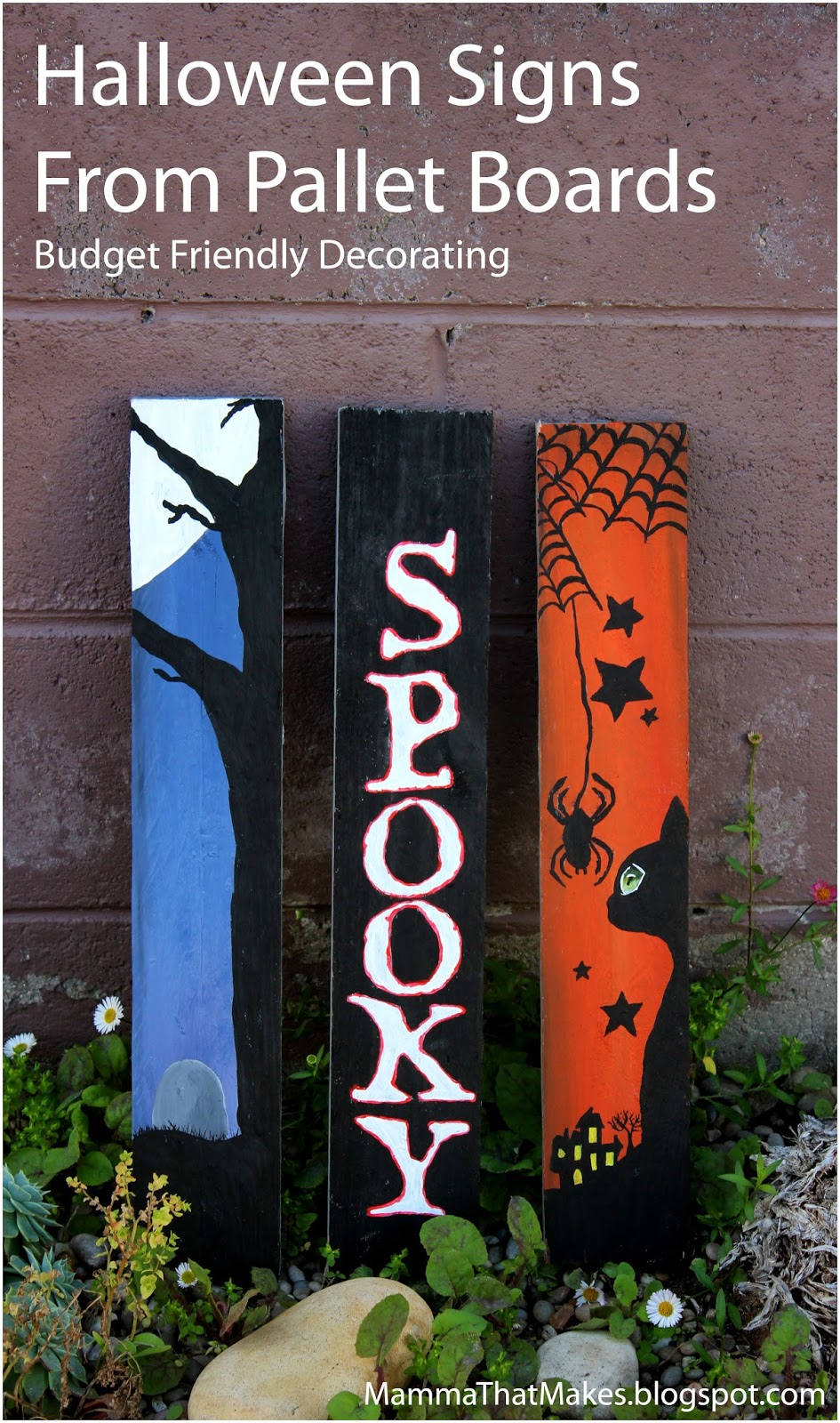 pinspiration halloween signs from pallets