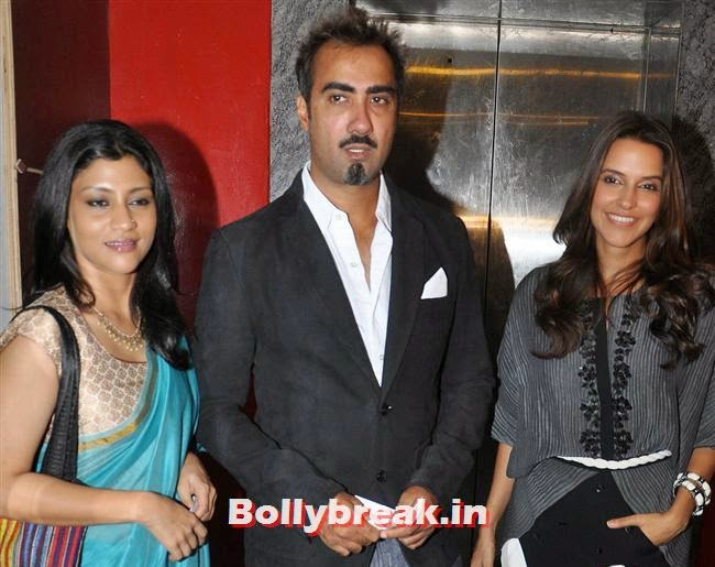 Konkana Sen sharma, Ranvir Shorey and Neha Dhupia, Ankhon Dekhi Movie Premiere Pics