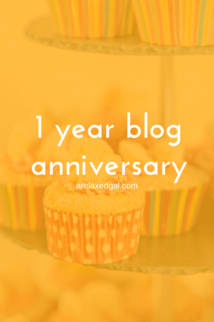 A Relaxed Gal blog celebrates it's one year anniversary and shares highlights from the past year. | arelaxedgal.com