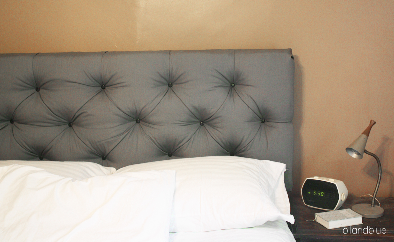 oil and blue: QUEEN SIZE TUFTED HEADBOARD - under $60