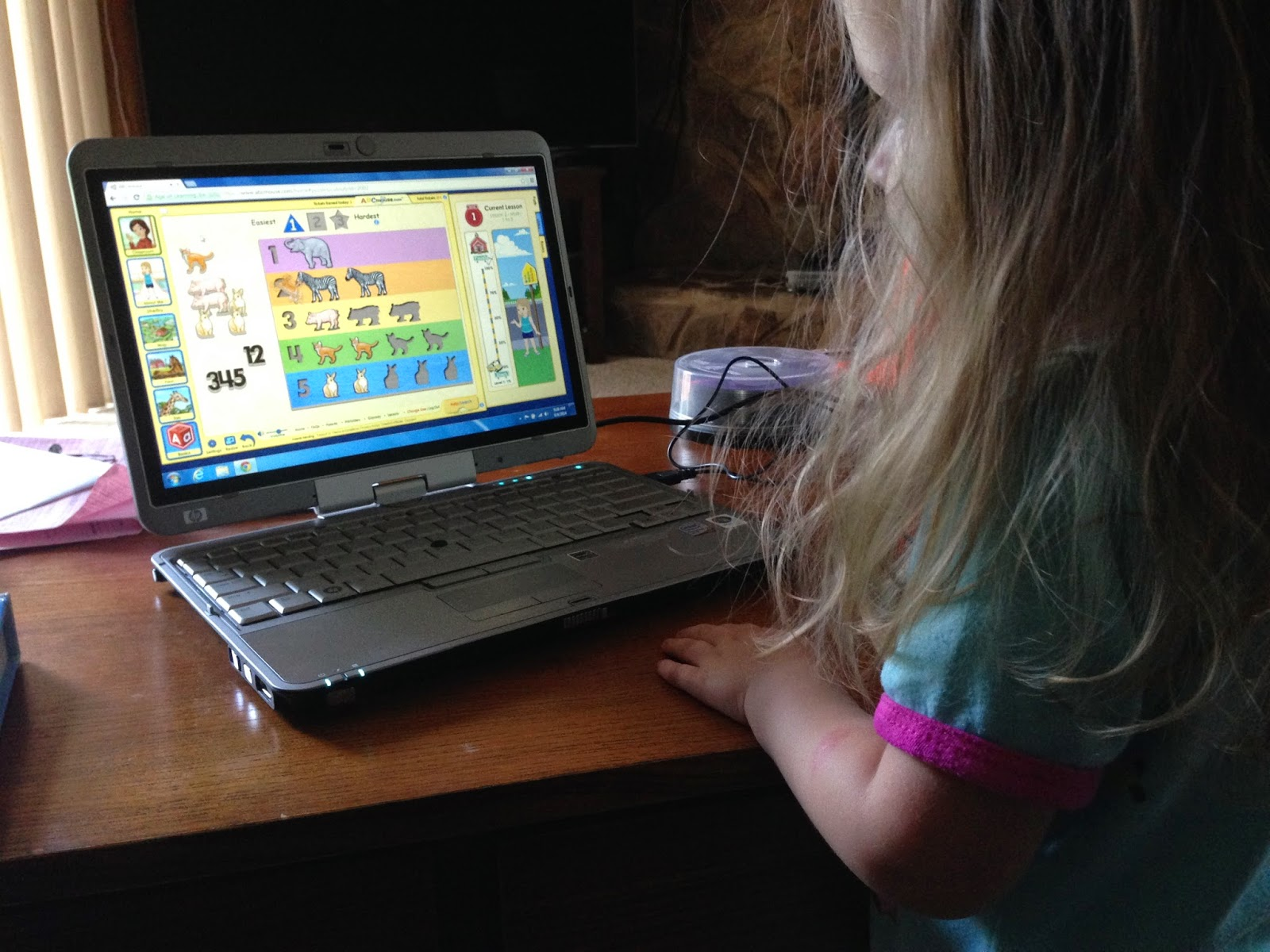 number animal puzzle on abcmouse.com