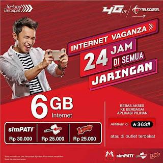 Harga Paket Internet Vaganza Telkomsel Simpati Dan As 2018