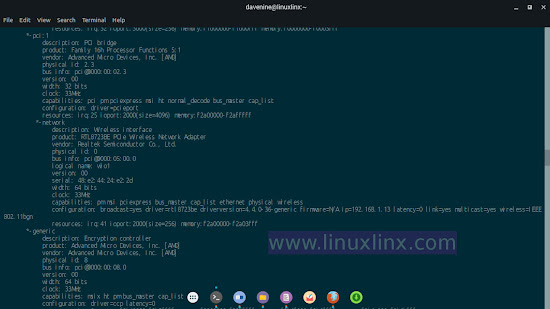 linux commands check kernel, gnome shell, ubuntu version, and hardware info