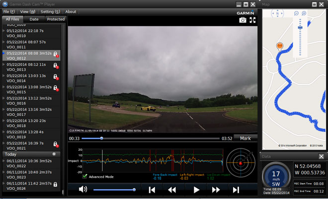 Garmin Dash Cam 20 software