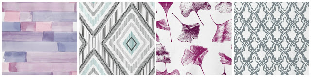 fabric mood board, fabric choices from minted, how to update a room, reupholstering furniture, abstract watercolor, imperfectly perfect, gingko floral, casablanca,
