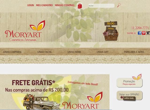 Loja Virtual MOryart Cosméticos Artesanais