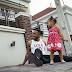 Flavour and his two beautiful daughters