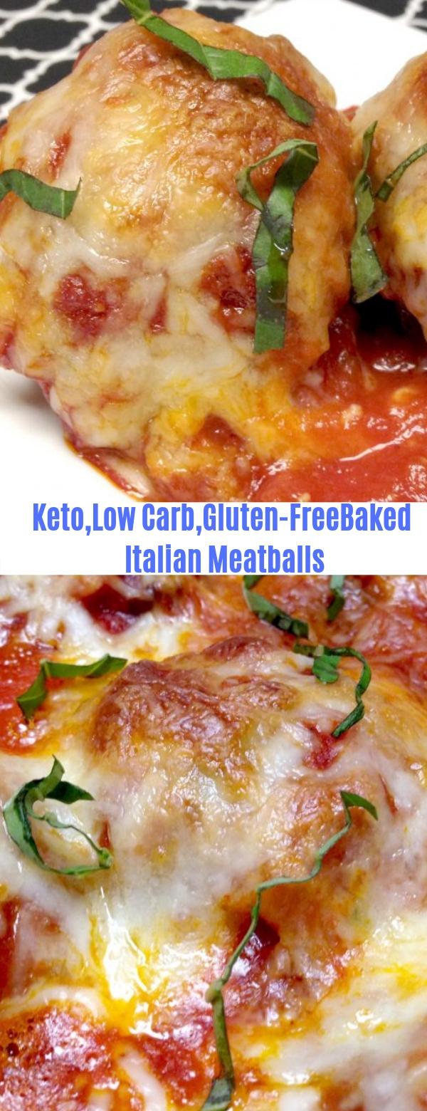 Keto,Low Carb,Gluten Free Baked Italian Meatballs