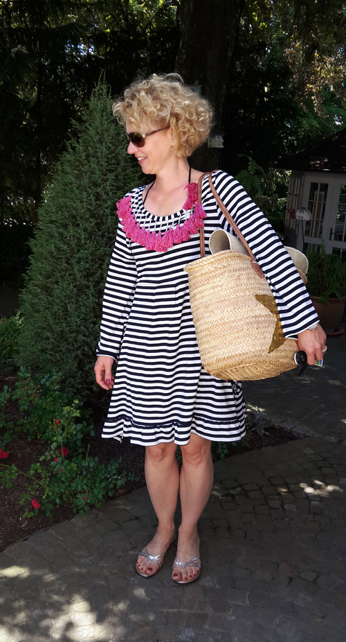 Annette Diepolder Atelierladen Strandkleid Mallorca Punta Negra DIY Quasten