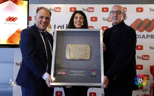 El canal de La Liga supera el millón de suscriptores en Youtube