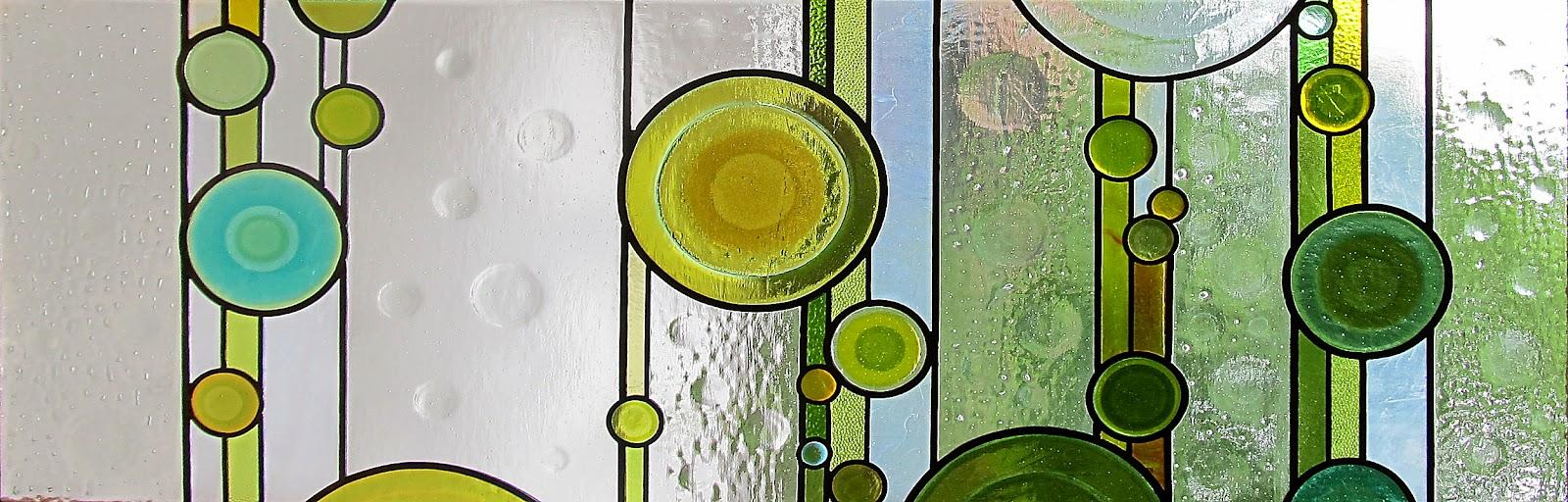 vodopád vitráž