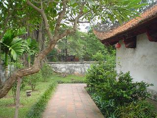 Side view of Van Mieu Temple in Hanoi (Vietnam)
