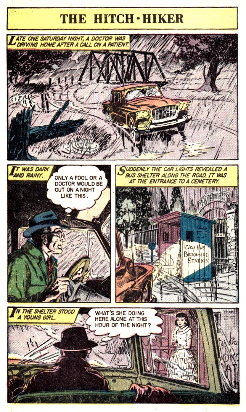 ... Story of Ghosts #24 from Classics Illustrated, artwork by Georg Evans  and Reed Crandall on