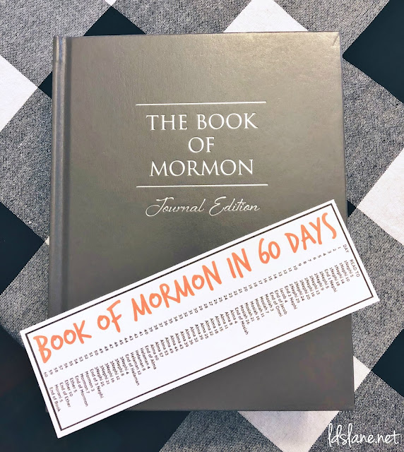 Book of Mormon in 60 Days Bookmark - ldslane.net