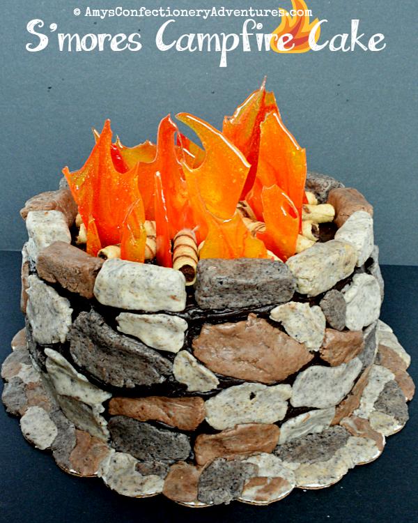 Pleasant Amys Confectionery Adventures Smores Campfire Cake Funny Birthday Cards Online Alyptdamsfinfo