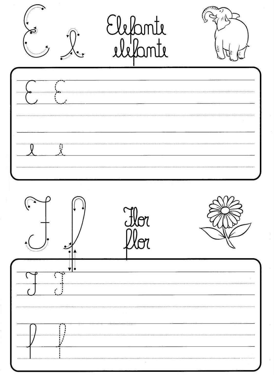 Atividade De Caligrafia Letras Do Alfabeto Ilustrado