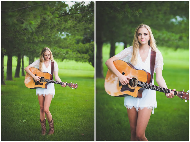 senior photos with guitar