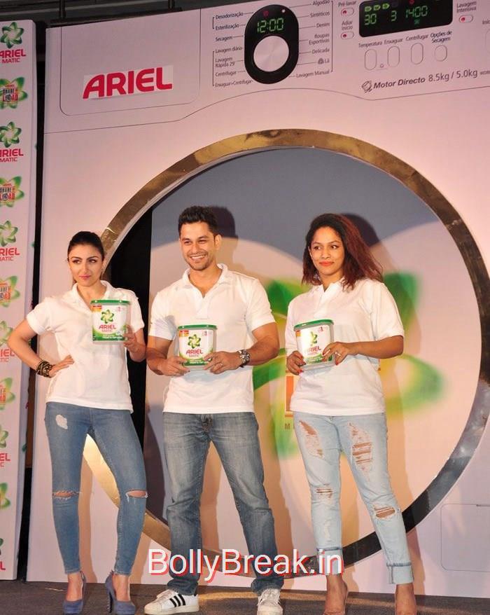 Soha Ali Khan, Kunal Khemu, Masaba Gupta, Soha Ali Khan Masaba Gupta Hot Pics at Ariel Men & Women Washcare Label Launch
