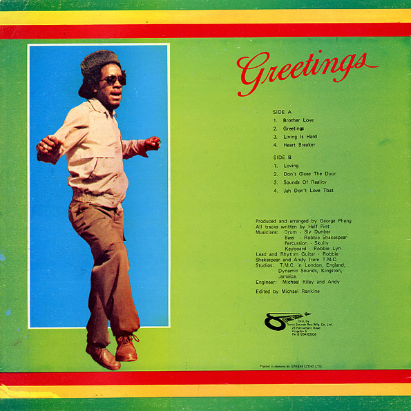 Rasta reggae music half pint greetings half pint greetings a1 brother love m4hsunfo