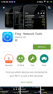 Download and install fing app