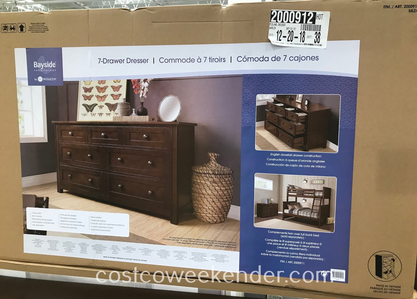 Dresser Une Table À L Anglaise bayside furnishings dresser | costco weekender