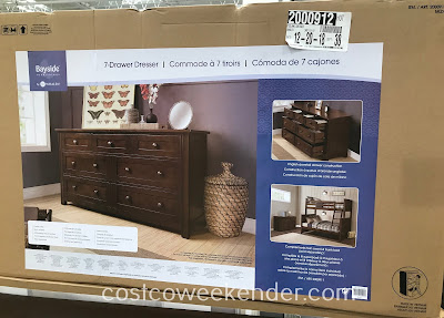 Costco 2000912 - Bayside Furnishings Dresser features plenty of space for your clothes