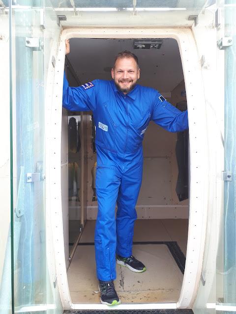 Entering MIR space station at cite de l'espace in Toulouse