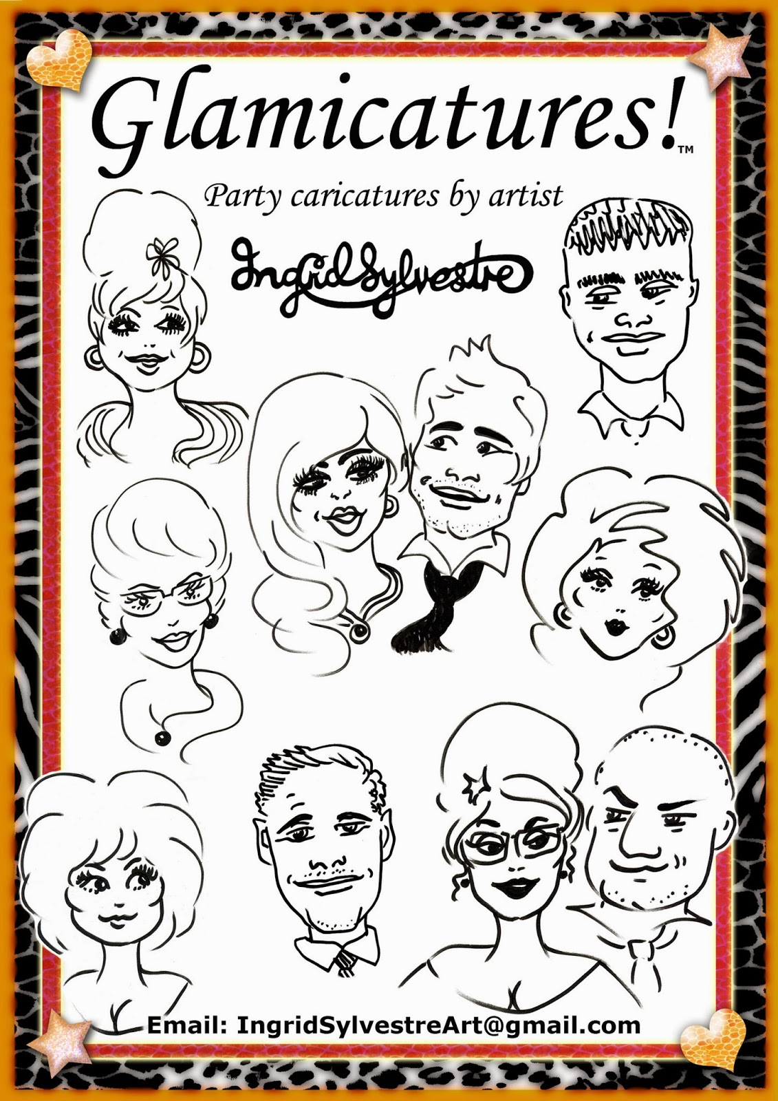 Wedding entertainment North East corporate events party caricatures proms caricatures by UK caricaturist Ingrid Sylvestre, Durham wedding entertainment Newcastle Teesside Northumberland Yorkshire