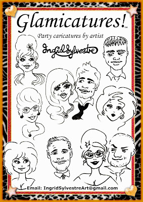 Wedding entertainment North East corporate events Northeast party caricatures proms caricatures by UK caricaturist Ingrid Sylvestre, Durham wedding entertainment Newcastle Teesside Northumberland Yorkshire