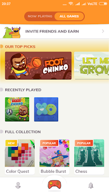 kapow-app-home-screen-game
