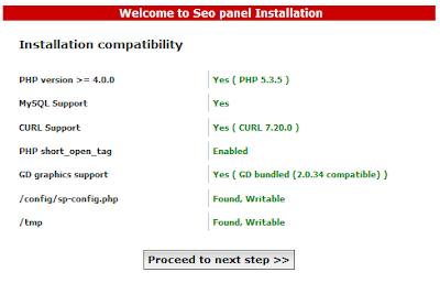 Instalasi SEO Panel 3 | Adlinux Blog