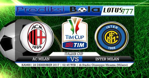 PREDIKSI  AC Milan vs Inter Milan  28 DESEMBER 2017